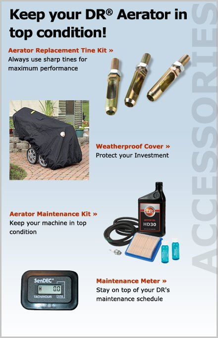 DR Lawn Aerator parts and accessories