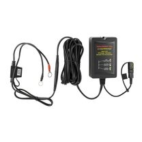 Desulfation Battery Charger 12v, w/ ring & clips