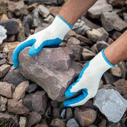 True Grip Latex Coated Gloves, 3-Pack