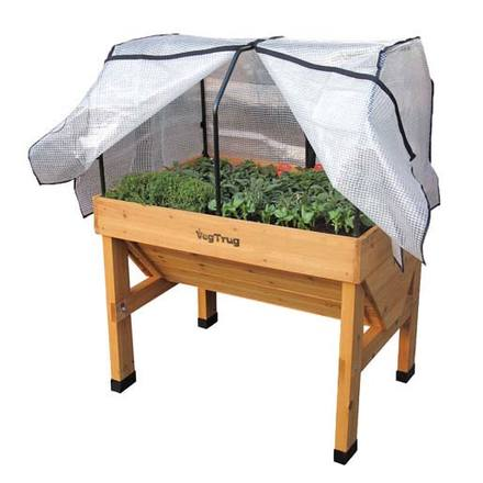 Small Wall Hugger VegTrug Raised Bed with Cover