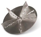 Solid steel impeller on a DR self-propelled leaf vacuum