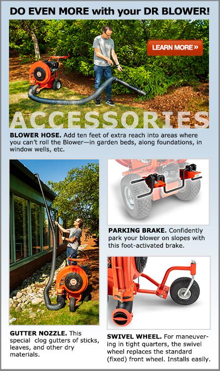 DR Walk-Behind Leaf Blower Accessories