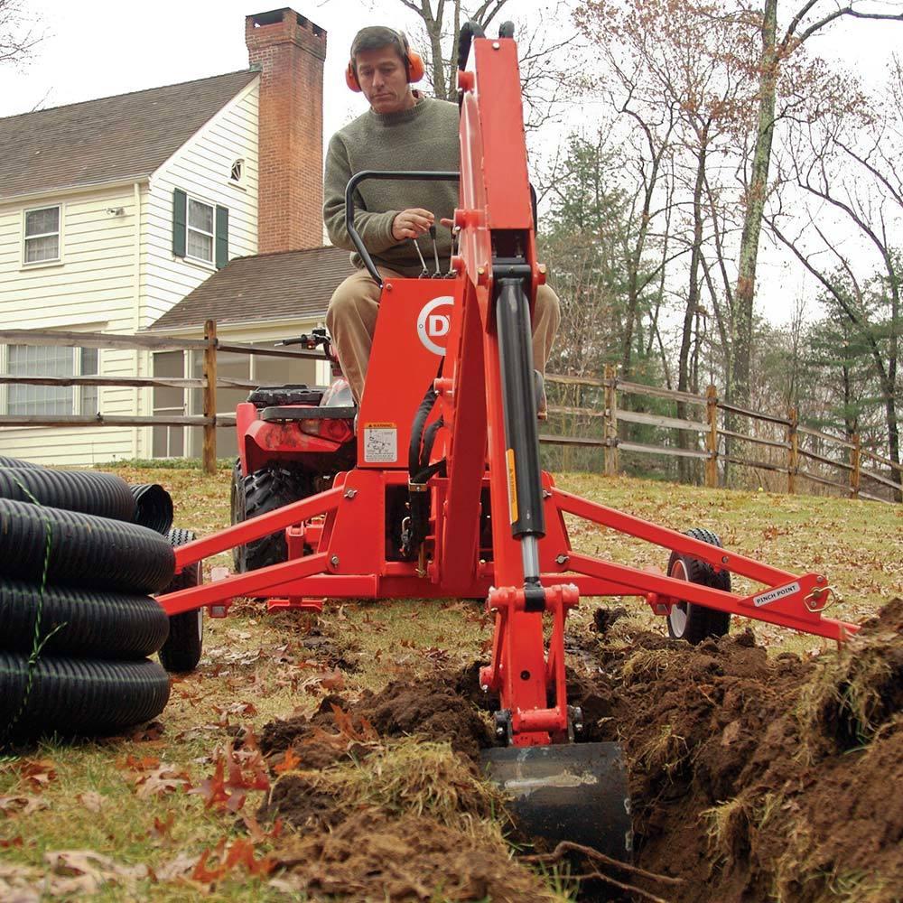 10 Hp 14 5 Ft Lbs Gross Torque Towable Backhoe Dr Power Equipment