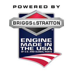 Briggs and Stratton engine on a DR pull-behind string trimmer