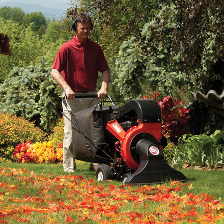 Self Propelled Leaf And Lawn Vacuum Manual Start Dr