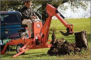 DR Towable Backhoe. Use it with or without a tow vehicle