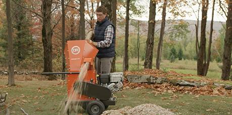 DR Premier 375 Self-Feeding Wood Chipper, Manual Start