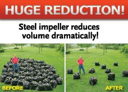 DR Leaf Vac reduces yard waste to mulch