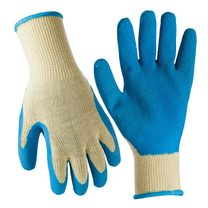 True Grip Latex Coated Gloves, 3-Pack