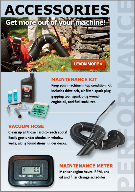 DR Self-Propelled Leaf and Lawn Vacuum parts and accessories
