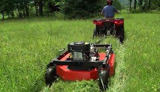 ATV Tow Behind Brush Mower Video