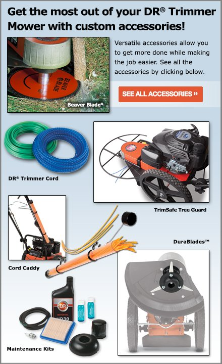 DR Trimmer Mower parts and accessories