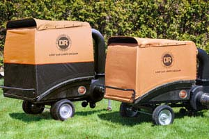 Collector trailer on the tow-behind DR leaf vacuum