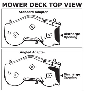 DR Angled Deck Adapter for Leaf and Lawn Vacuums