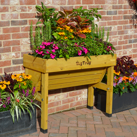 Small Wall Hugger VegTrug Raised Bed without Cover