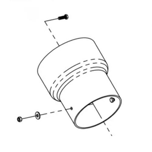 "Leaf Vacuum Adapter for 7"" Hose to John Deere 42"" /& 42"" Convertible Mower Deck"