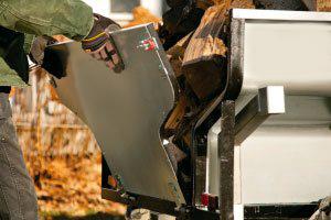 Removable end panels on a DR ATV dump trailer