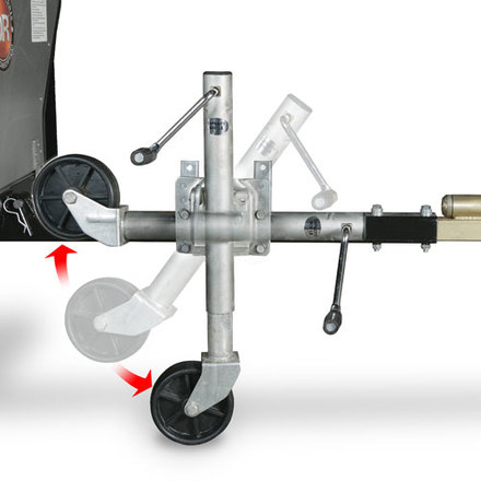 Pivoting Jack Stand for 1/2 Ton Versa-Trailer