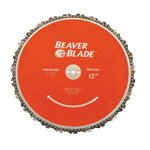 Optional Beaver Blade on a DR walk-behind string trimmer