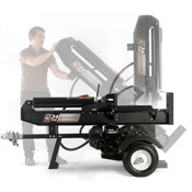 Switch from horizontal to vertical position on a DR log splitter